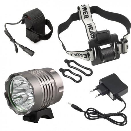 Torcia LED 6400 Lm bicicletta   8800 mAh